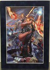 INVADERS NOW! By ALEX ROSS Matted Print Marvel Comics Cap. America Torch Namor