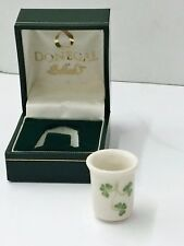 Donegal Parian China Thimble And Velvet Case