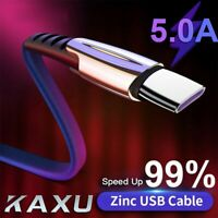 USB Type C/Micro USB Cable 5A Fast Charging Cable Data Cord For Samsung Android