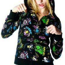 NEW Tokidoki Marvel Superhero Black Zip Up Hoodie Jacket Kawaii Fashion Size L