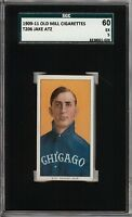 Rare 1909-11 T206 Jake Atz Old Mill Back Chicago SGC 60 / 5 EX