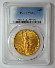 1924-P PCGS MS64  $20 GOLD ST. GAUDENS DOUBLE EAGLE GOLD US COIN !