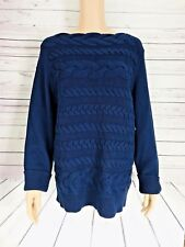 CeCe by Cynthia Steffe Womens Horizontal Cable Knit Sweater Size XL