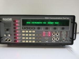 SAGE INSTRUMENTS 930A SAGE INSTRUMENTS 930A COMMUNICATIONS TEST SET