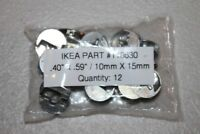 "Lot of 12 Genuine IKEA Metal Cam Locks Part #110630  40""L X .58""D"
