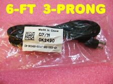 Dell laptop 3-prong Mickey Mouse Power AC cord cable 6ft PA-10 PA-13 PA-15 K2490