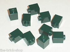 LEGO neuf / NEW DkGreen bricks 1x1 ref 3005 / set 10184 21005 10185 21006 7930