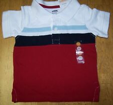 NWT GYMBOREE BEACH CRAWLER RED WHITE BLUE STRIPE POLO SHIRT 6-12 mo Free Ship