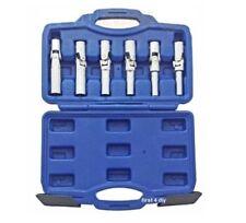 Pro 6pc 3/8'' Glow Spark Plug Removal Remove Joint Socket Car Garage Tool Set