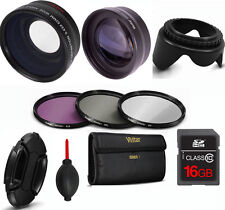 FISHEYE LENS + TELEPHOTO  ZOOM LENS + FILTERS +16GB CARD FOR SONY ALPHA A5000