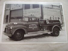 1953 GMC FIRE TRUCK     YOUNG BODY   11 X 17   PHOTO   PICTURE