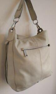 M & S Autograph Quality Real Leather Large Tote / Shoulder Bag Ivory Colour VGC