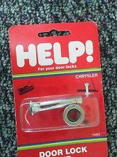 Chrome Door Lock Kit Help Dormam 75419 65 Up Chrysler Fits Older Cars (1 Kit )