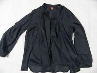 DONDUP schöne leichte Bluse mit Seide dunkelgrau Gr. 40 TOP BI1118