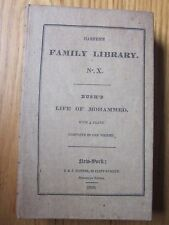 1830 Bush's Life of Mohammed Harper's Stereotype Edition with Caaba sacred Mecca