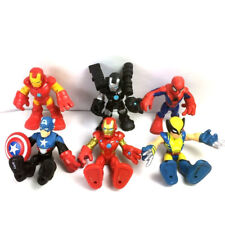6pcs PlaySkool Heroes Iron Man Marvel Adventures Super Hero Figure Boy Toy Gift