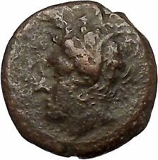 Carthage in Zeugitana 400BC Tanit Cult & Horse  Rare Ancient Greek Coin  i41267