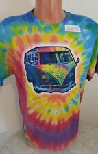 VW Volkswagen Van Bus T-Shirt Size Large Tie Dye