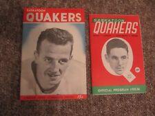 1954/55 & 1955/56 Saskatoon Quakers Programs vs. Victoria Cougars. WHL