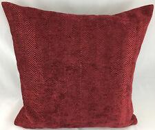 Burgundy Red Herringbone Design Evans Lichfield Cushion Cover