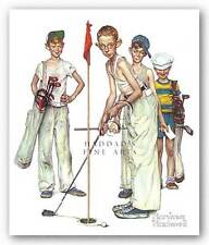 GOLF ART PRINT Missed Norman Rockwell 8.5x9