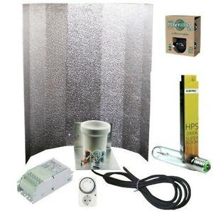 600W Beleuchtung Set Natriumdampflampe Vorschaltgerät Aufhängung Zeitschaltuhr