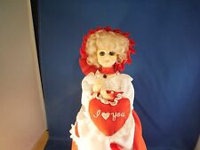 """Vintage Brinns February Birthday Doll """"Let Me Call You Sweetheart"""" Music Box"""