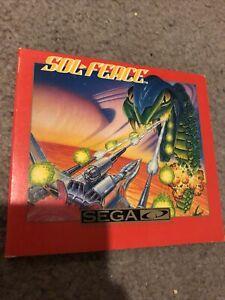 Sol-Feace, Game & Case (NO MANUAL!), Sega CD