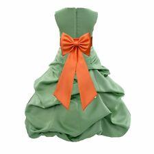 CLOVER GREEN ST. PATRICK DAY FLOWER GIRL DRESS WEDDING BRIDE Christmas Holiday