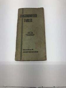 Vintage Ex Cell O Trigonometry Booklet Machinist