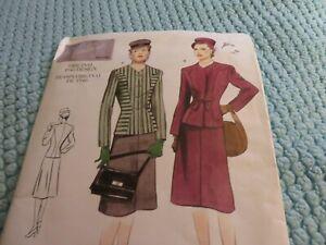 Vogue vintage reproduction pattern 1946 suit, 12