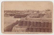 Civil War Southern Fort Battery Interior Barnard Gibson Rare 1862 Tax Stamp Cdv