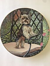 GARDEN SET by Patricia Bourque Yorkshire Terrier Yorkie Dog Plate #8