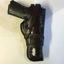 "Colt 1911 5"",Springfield,Remington ,Kimber, Leather Mahogany Antique Holster"