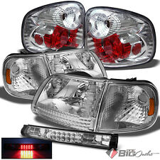 For 97-03 F150 Flareside/Supercrew Headlights + Tail Lights + LED 3rd Brake Lamp