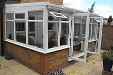 Conservatory - Made To Measure 2.4m x 2.4m Lean-to - White upvc **WINTER SALE**