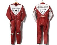90s Vintage Mens DAINESE Leather Motorcycle Suit Two Piece Jacket Pants