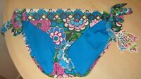 Becca Size Medium BASIC FIT Blue New Womens Side Tie Bikini Bottom