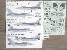 "F-16C FALCON ""3USAF/SOUTH DAKOTA/LOBOS/RACERS"" FOX ONE DECALS 1/32"