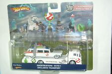 HOT WHEELS TEAM TRANSPORT GHOSTBUSTERS ECTO-1 & FORD C-800 EXCLUSIVE PAYPAL ONLY