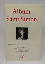 PLÉIADE - ALBUM SAINT-SIMON (1969)