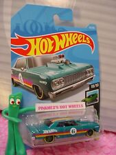 '64 CHEVY CHEVELLE SS #62 ✰teal green✰SPEED BLUR✰2019 i Hot Wheels WW CASE C