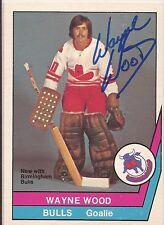 Wayne Wood Signed 1977-78 O Pee Chee WHA Card.