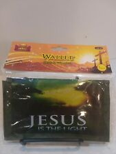 "Wallet Jesus Is The Light New In Pkg. Camouflage Color Unisex  Trifold 6""x3.5"""