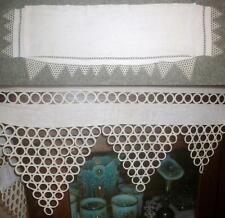Antique Piano Cover Cloth Scarf Fits Old Upright Decorative Edge Ecru Linen