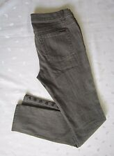 MICHAEL KORS Skinny Jeans Snap Buttons legs Gray Wash Denim ~ Size 4 ~ Flawless!