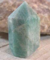 Amazonite Crystal Point Obelisk Reiki Chakra Wicca Balance Communication 26353E