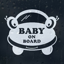Baby On Board Funny Cartoon Cars Eyes Decal Vinyl Sticker For Window Or Bumper
