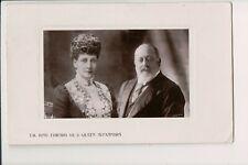 Vintage Postcard King Edward & Queen Alexandra
