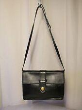 sac vintage DIDIER LAMARTHE cuir imitation lézard noir